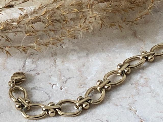 Bracelet chaine double boucle