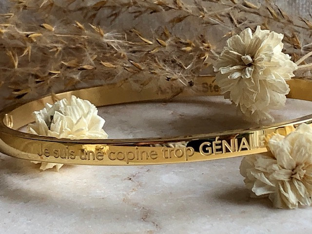 """Bracelet """" Copine trop géniale """""""