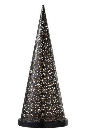 Lampe Led Cone Pile Métal Noir Large