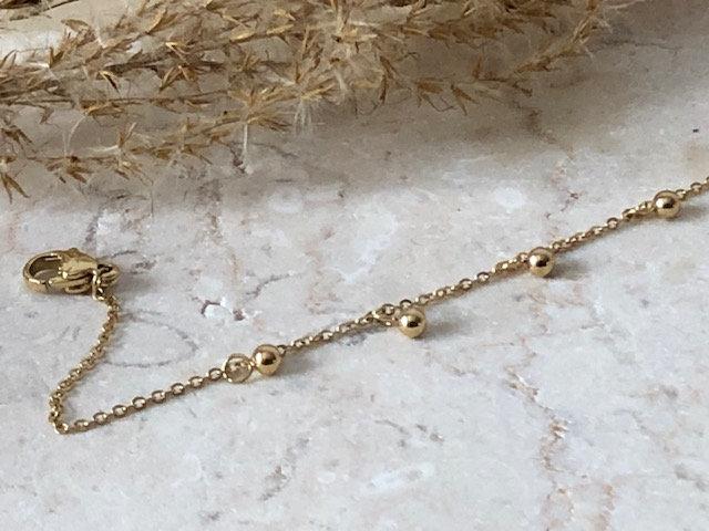 Bracelet chaine petites boules