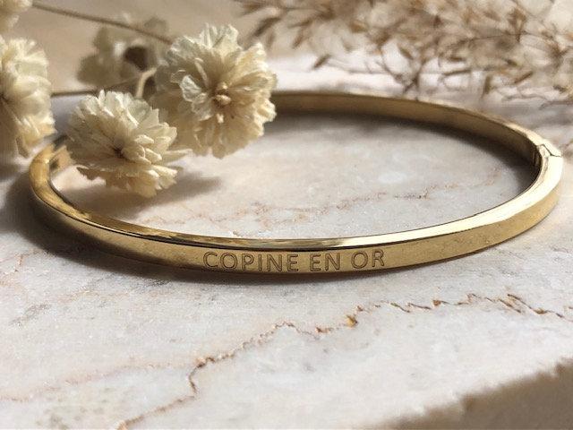 "Bracelet ""Copine en or"""