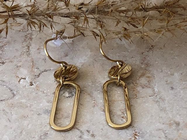 Boucles d'oreilles medaillon