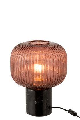 Lampe Verre/Marbre - Rouille/Noire