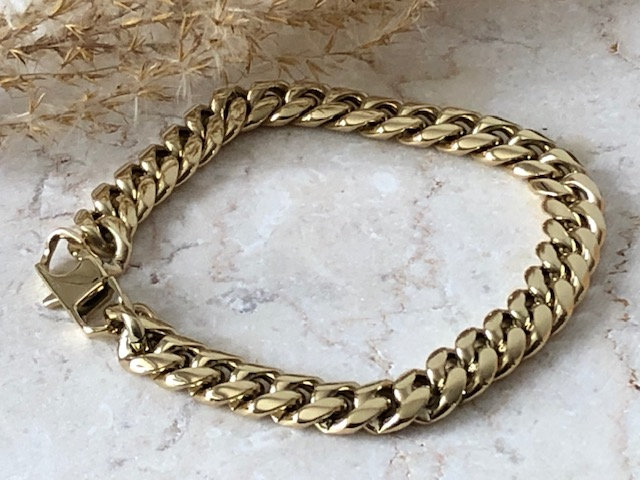 Bracelet chaine maille plate