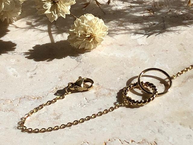 Bracelet double anneau