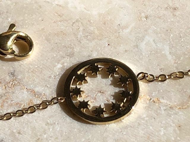 Bracelet chaine étoiles