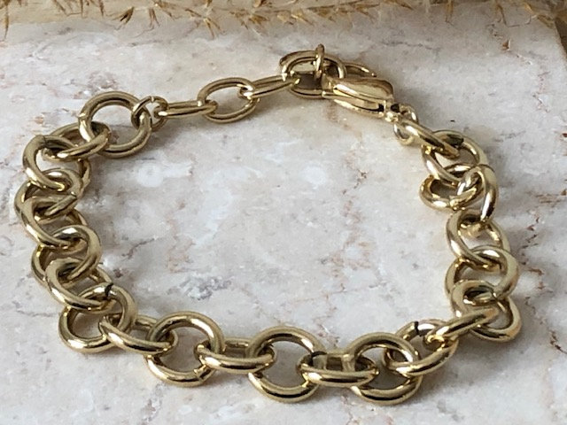 Bracelet chaine mailles ovales