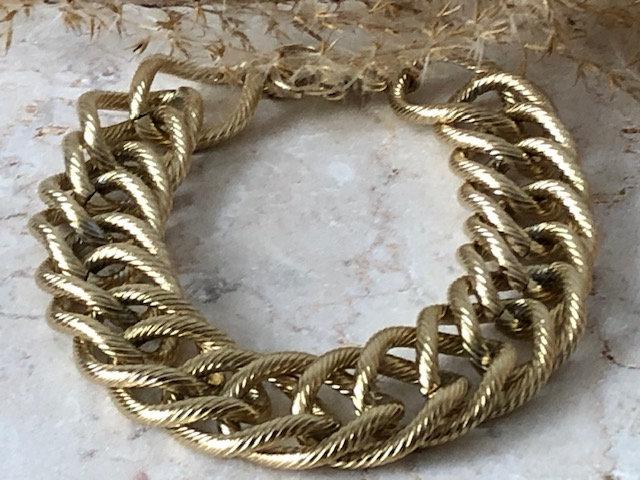 Bracelet chaine martelée