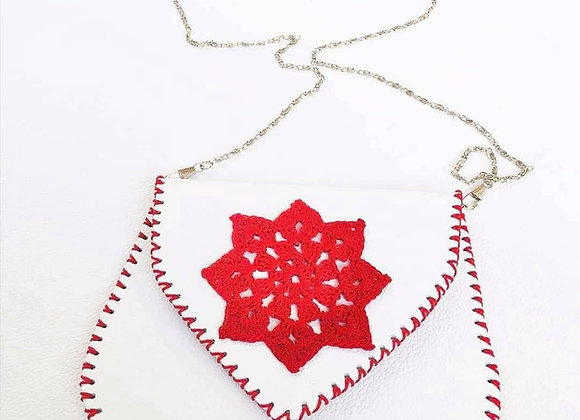 White Crossbody with Crochet