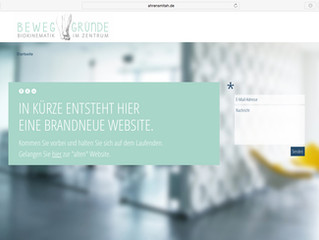 Neue Website im Aufbau