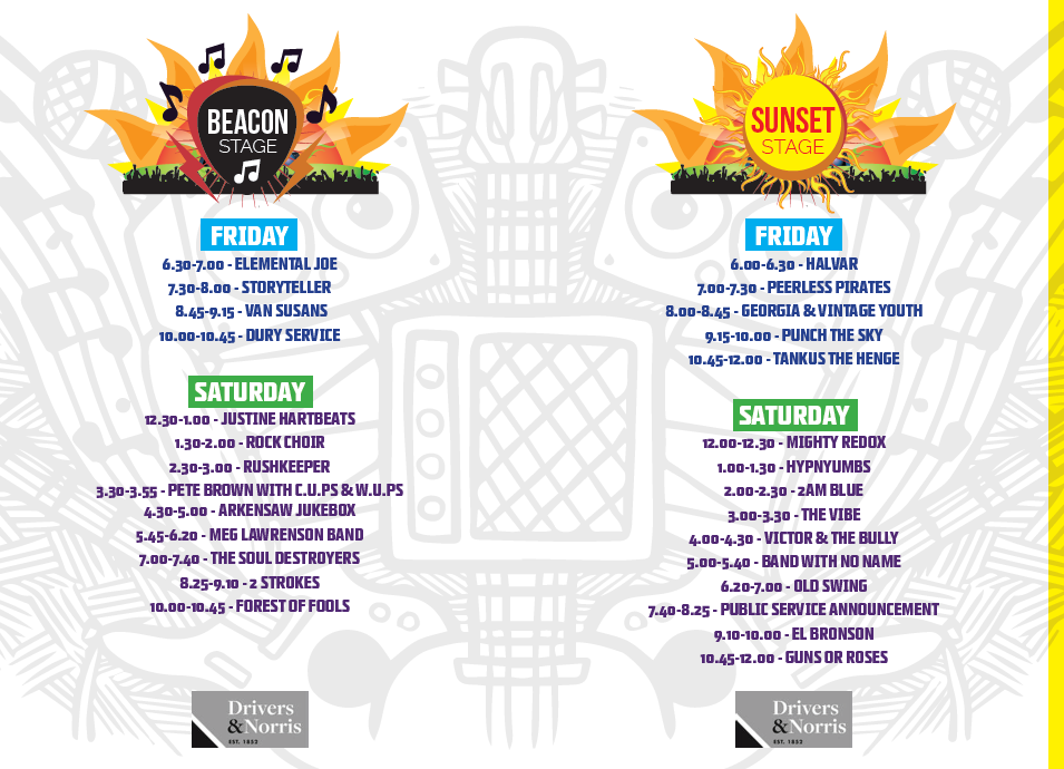 Beacon and Sunset stage line up.png