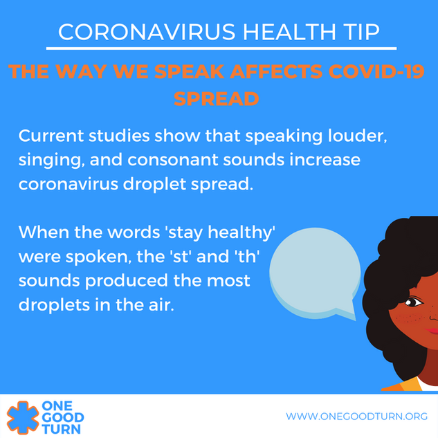 The Way We Speak Affects COVID-19 Spread