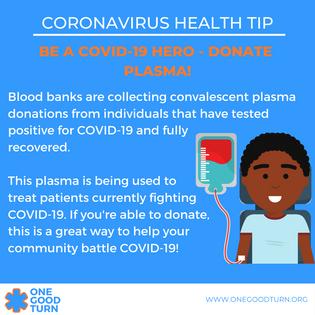 Be a COVID-19 Hero - Donate plasma! (1).