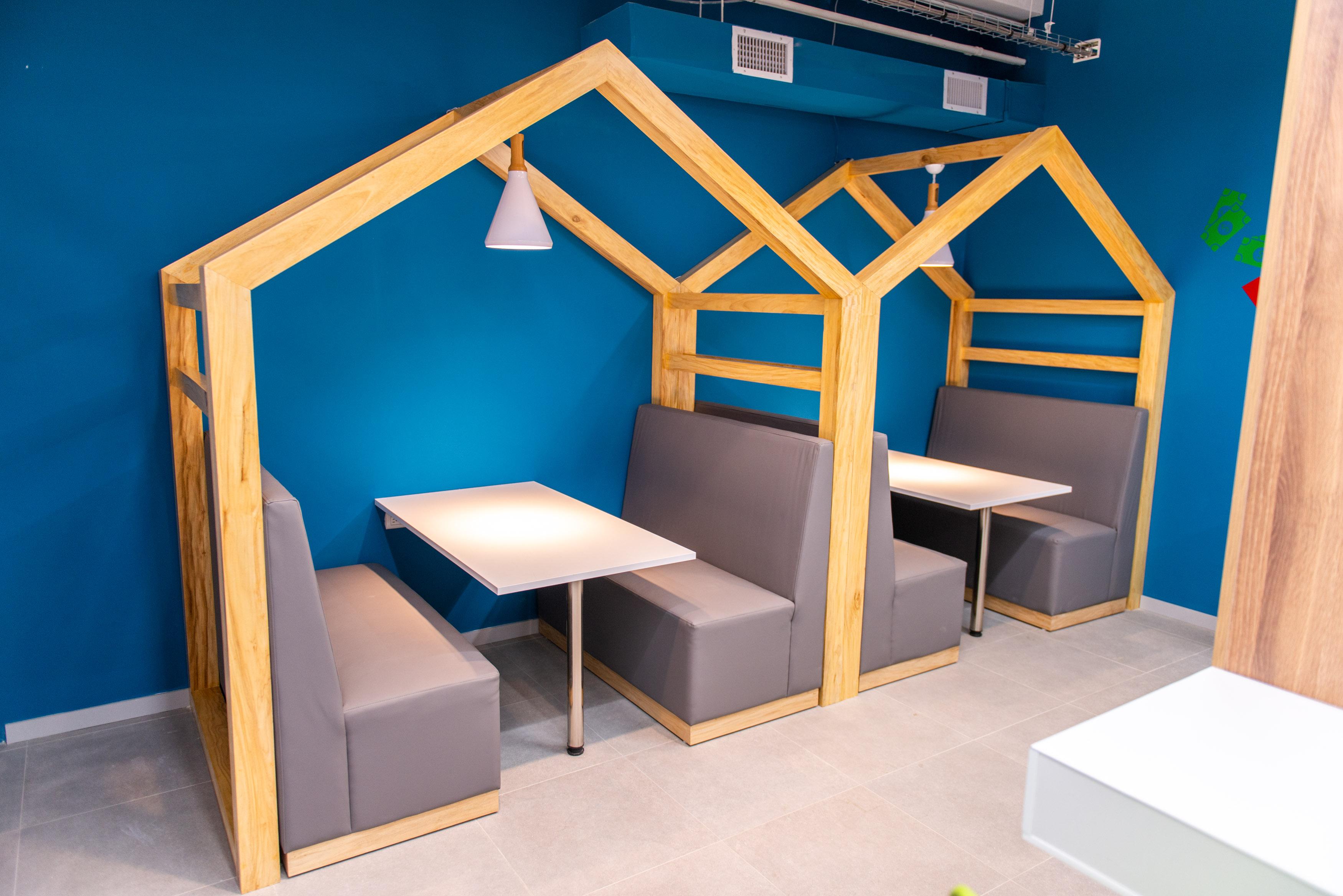 Área lounge en cafetería