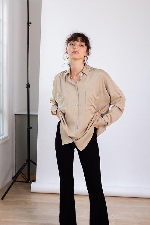 Maxi blusa Alba Beige