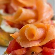 Bruschetta Smoked Salmon, Tomato, Cracked Pepper
