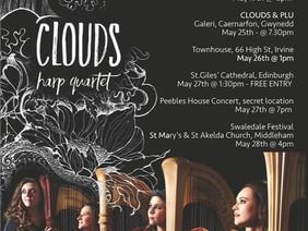 CLOUDS Harp Quartet New Album