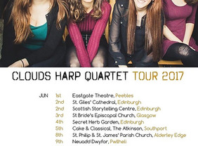 CLOUDS Harp Quartet Tour