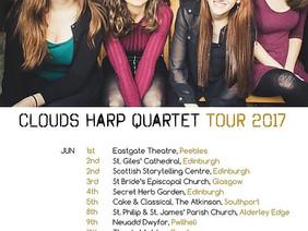 CLOUDS Harp Quartet Tour