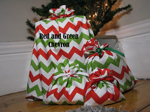 Reusable Fabric Christmas Gift Bags