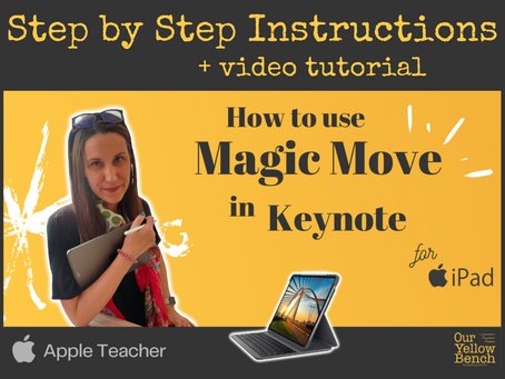 How to Use Magic Move in Keynote for iPad: An Apple Teacher Tutorial