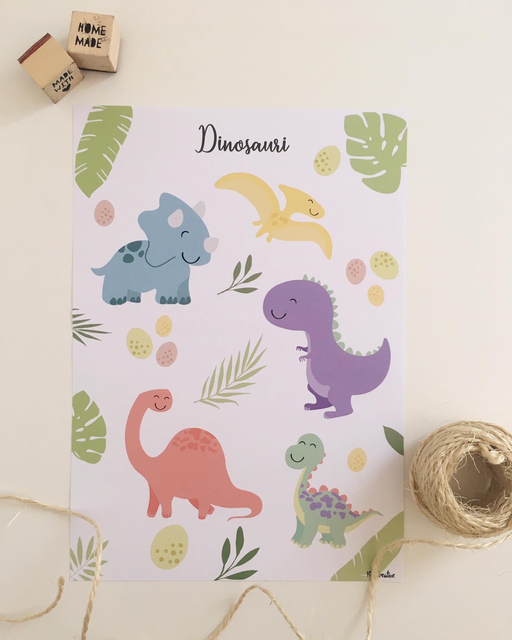 Stampa Dinosauri