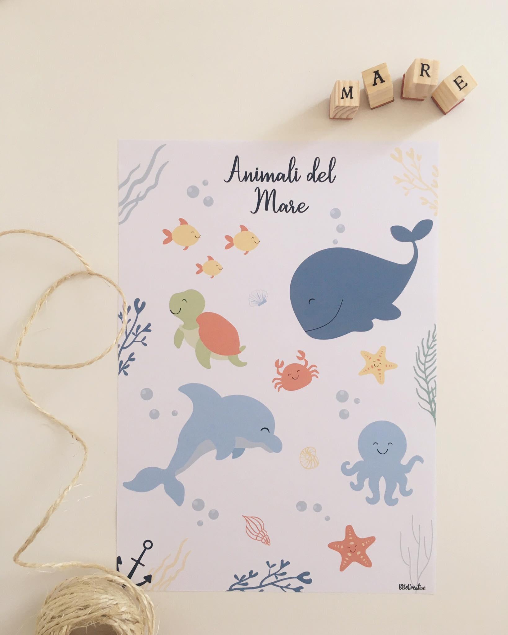 Stampa Animali del Mare