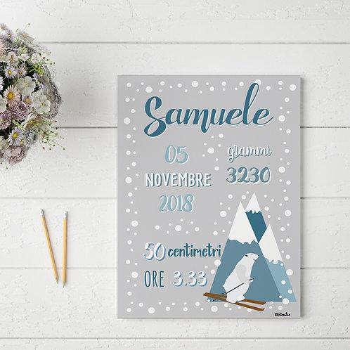 Carte Nascita - Tema Invernale -Personalizzata