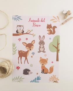 Stampa Animali del Bosco