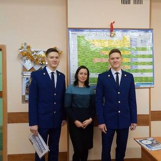Встреча с выпускниками гимназии. Паша и Дима Лукины. 27.12.17