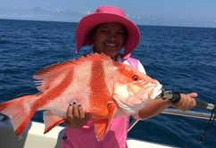 Darwin champion angler Loreta out fished the boys again!