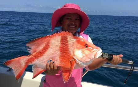 Darwin champion angler Loreta out fished the boys again!