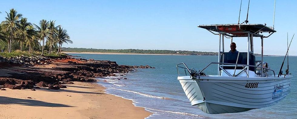 Dundee Beach boat hire Darwin