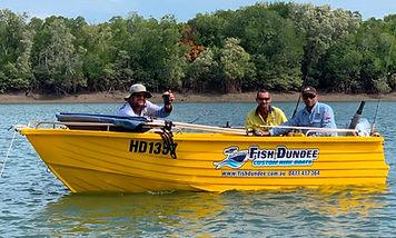 Barra Crabber boat for hire