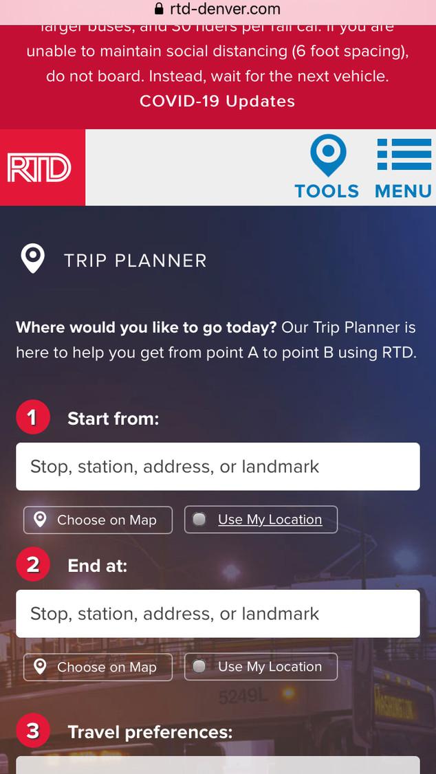 RTD Trip Planner