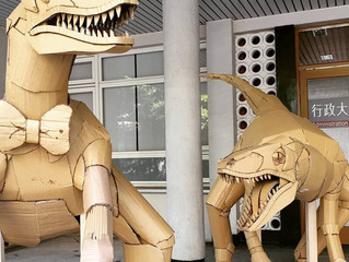 Скульптуры животных из гофрокартона