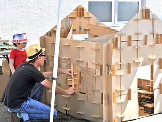 Американец построил картонный дом из маленьких кусочков за два дня