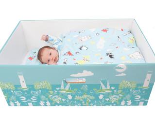 Малыши будут спать в подарочных картонных коробках