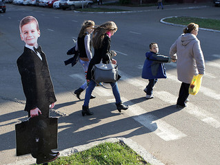 Гофрокартон спасает жизнь пешеходам