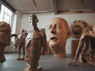 Картонные скульптуры британского художника Джеймса Лэйка