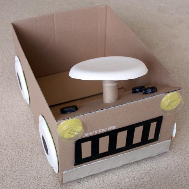 машинка из коробки смарт картон