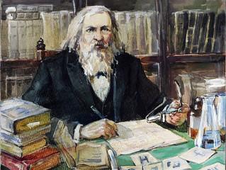 Менделеев придумал периодическую систему с помощью картона