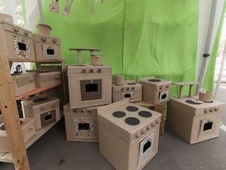 В детском саду поставили эксперимент: заменили игрушки на картонные коробки