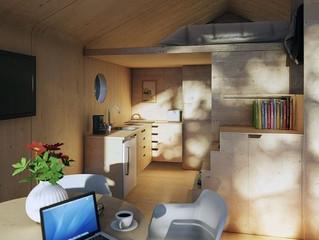 Челябинец разработал эко-дома из фанеры и картона