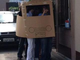 Картонный мир победил, или Что собрали из картонных коробок