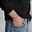 Thumbnail: Custom Engraved Silver Bar String Bracelet