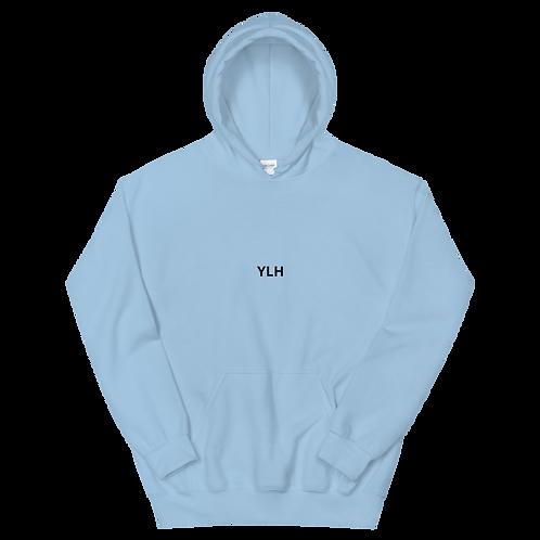 YLH - Unisex Hoodie (light blue)(black font)