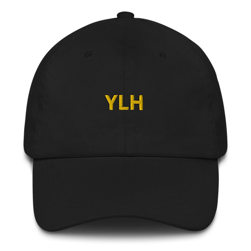 YLH - Black Dad hat (yellow font)