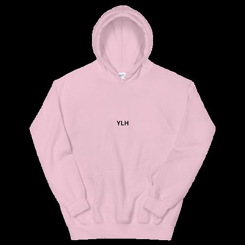 YLH - Unisex Hoodie (pink)(black font)
