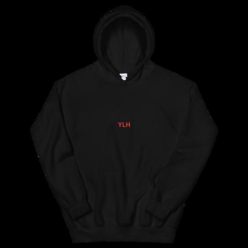 YLH - Unisex Hoodie (black)(red font)